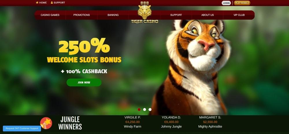 888 Tiger Casino Bonus Code