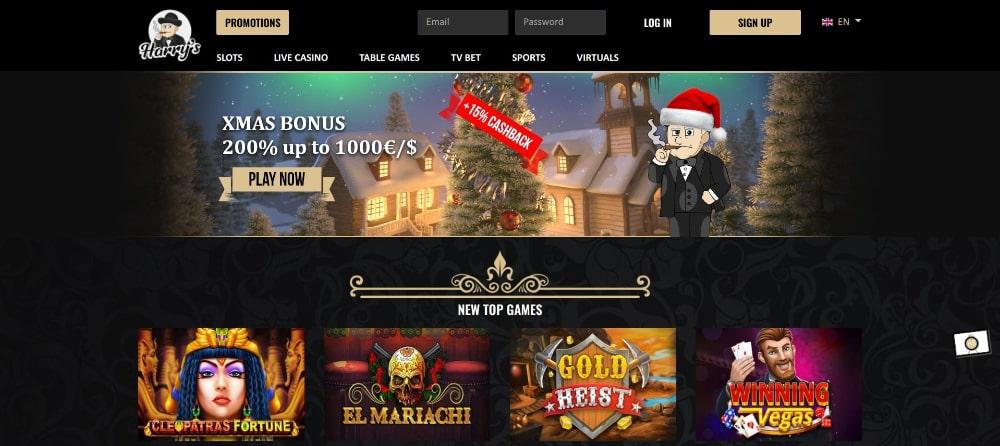 harry's casino bonus code