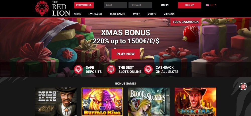 red lion casino bonus