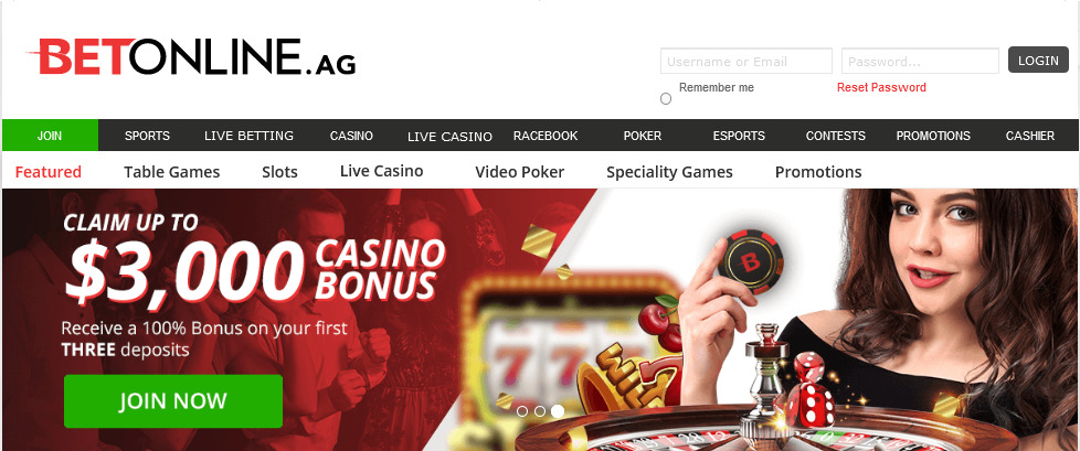 bet online casino review