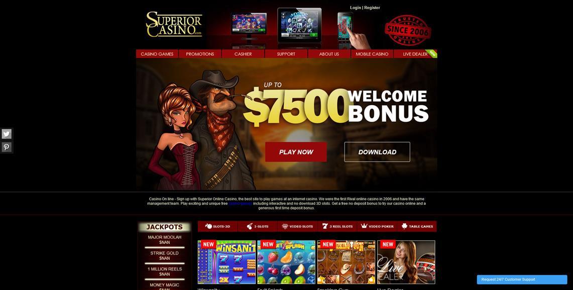 superior casino online review