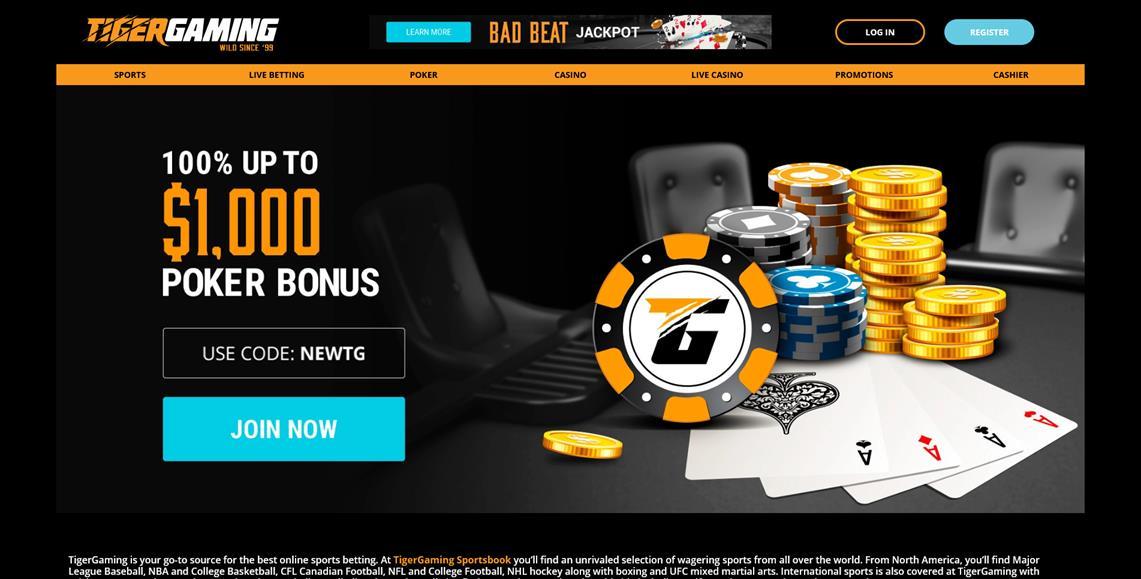 tiger casino online